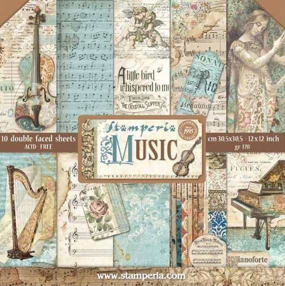 """Music 12"""" Paper Pack 00461"""