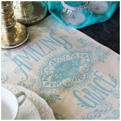 Amazing Grace Hymn Flour Sack Tea Towel