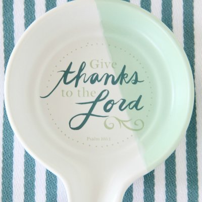 Give Thanks To The Lord Spoon Rest
