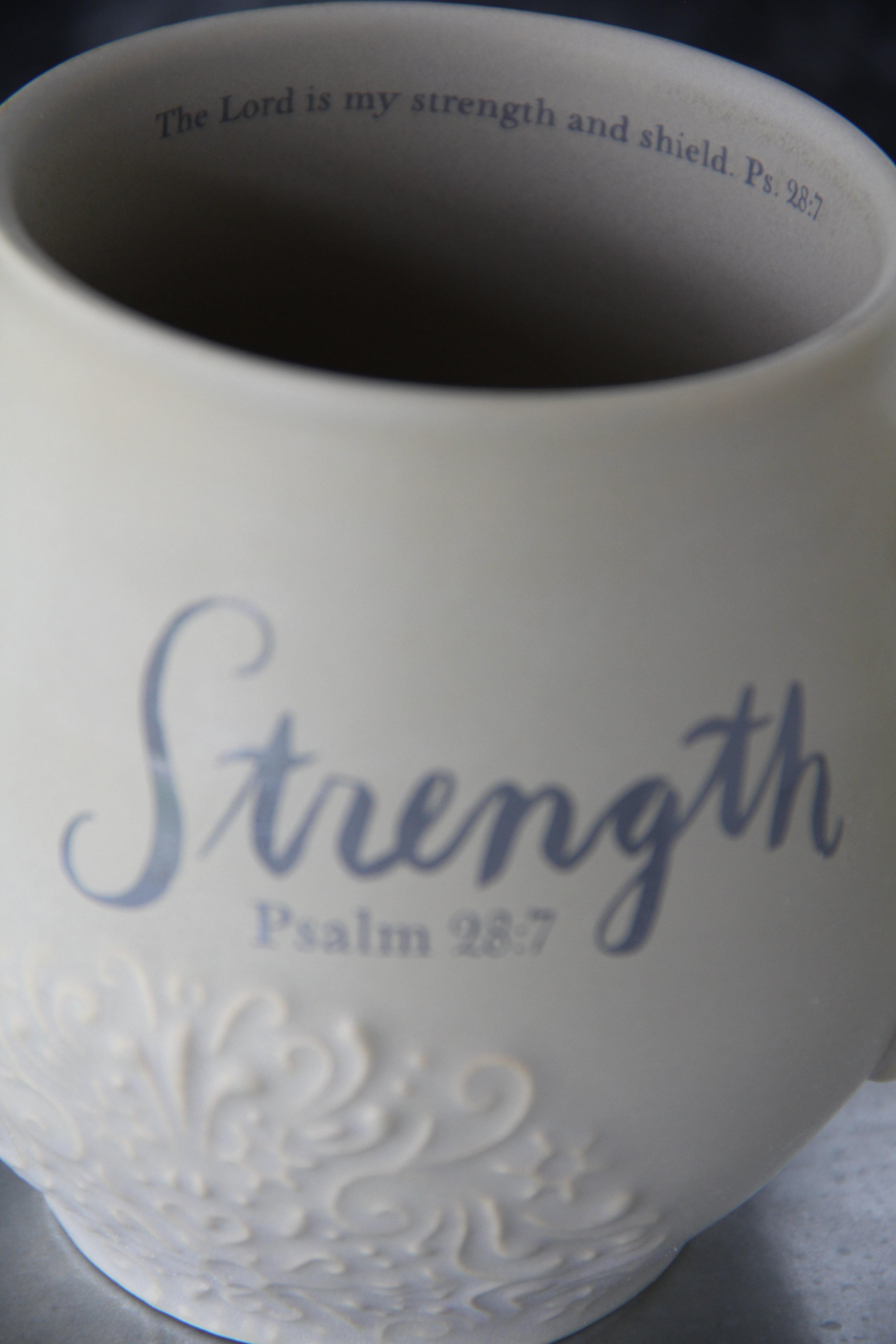 Strength Stoneware Scripture Mug