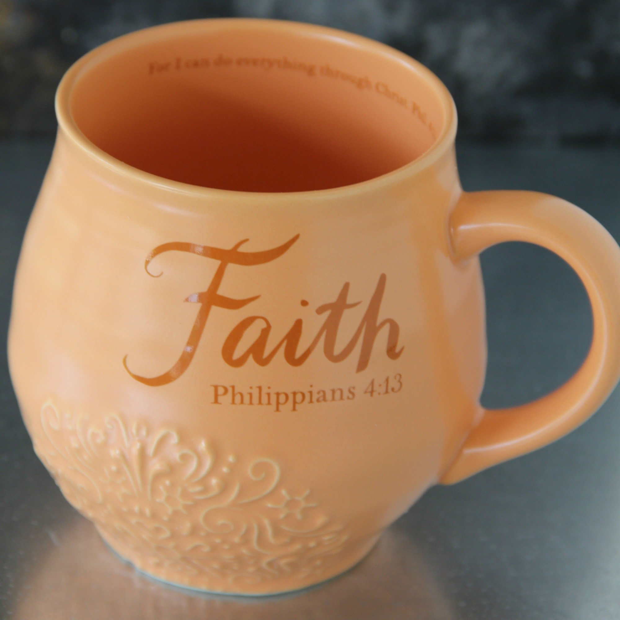 Faith Stoneware Scripture Mug 00017