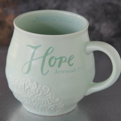 Hope Stoneware Scripture Mug