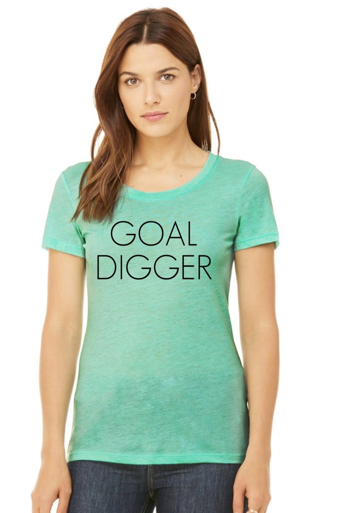 Goal Digger Top in Mint GDTSM