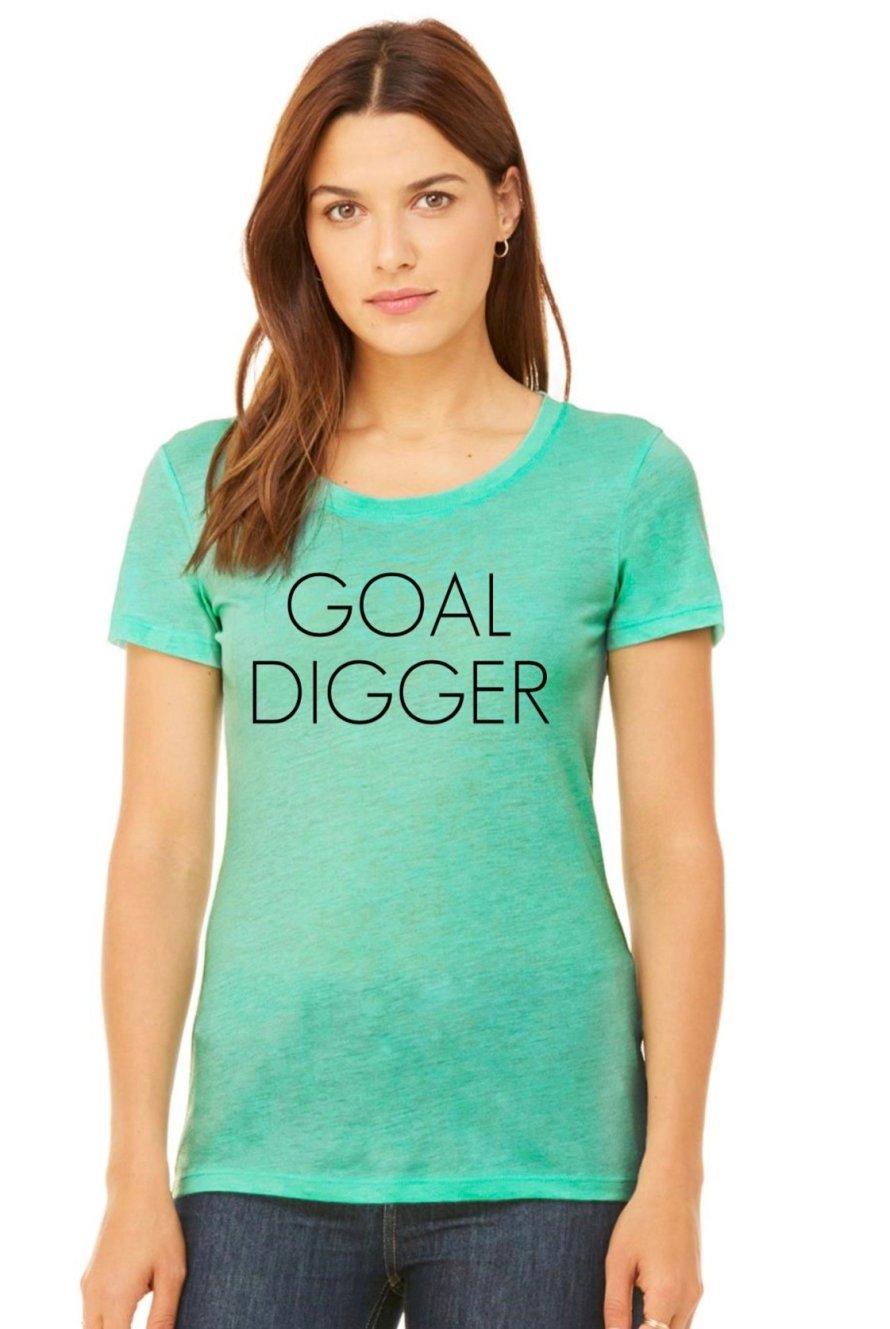 Goal Digger Top in Mint GDTSM