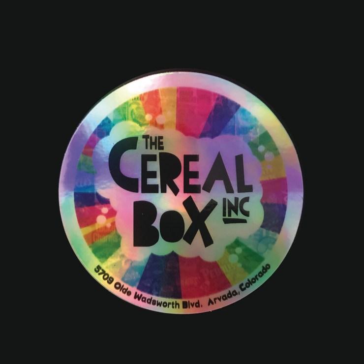 Shiny Metallic CEREAL BOX Sticker!