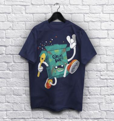 Cereal Box T-Shirt:  Box on The Run!
