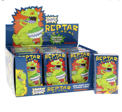Nickelodeon Rugrats Reptar Cereal Candy Tin 1