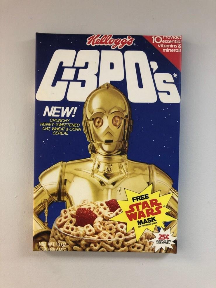 C-3PO's Cereal Box Canvas Art