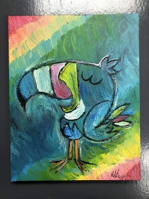 Hand Painted Toucan Sam original art