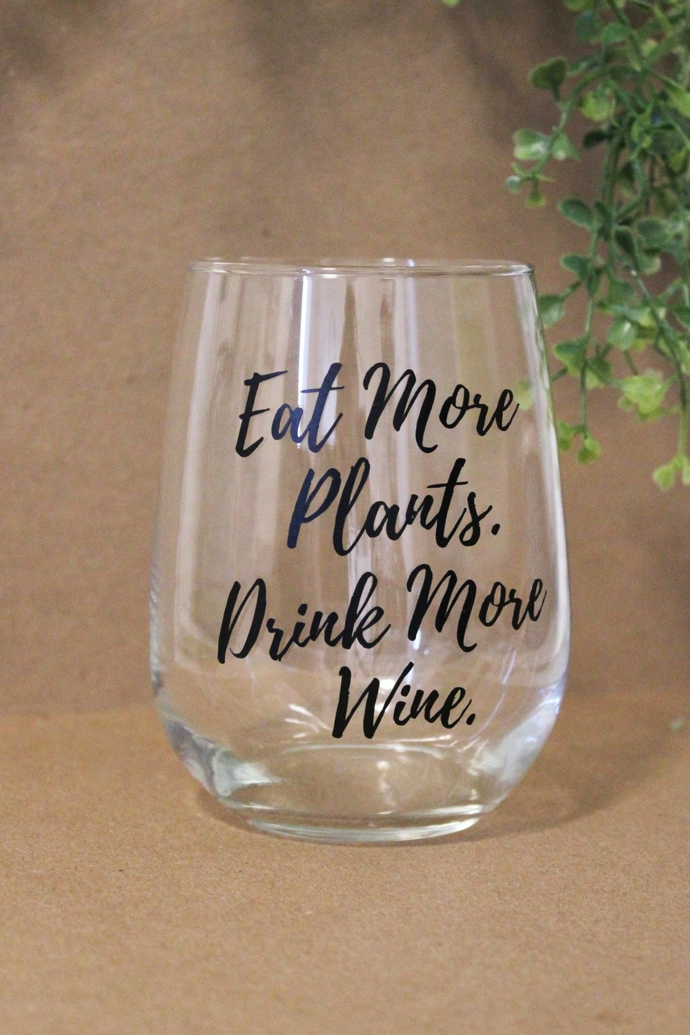 Wine Glass - Eat More Plants