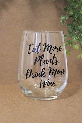 Wine Glass - Eat More Plants