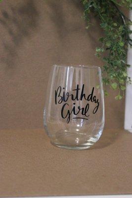 Wine Glass - Birthday Girl