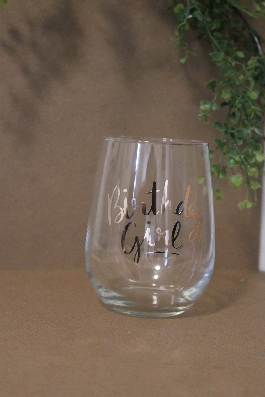 Wine Glass - Birthday Girl - Rose Gold 00144