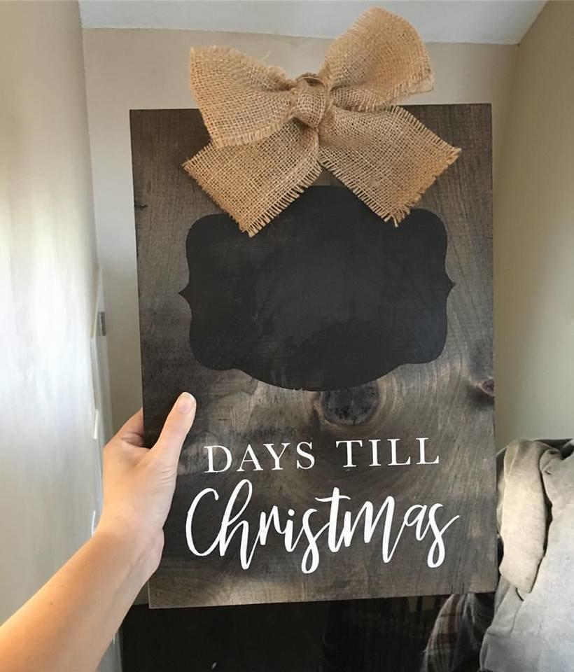 Christmas Countdown  - Wood Sign 00156