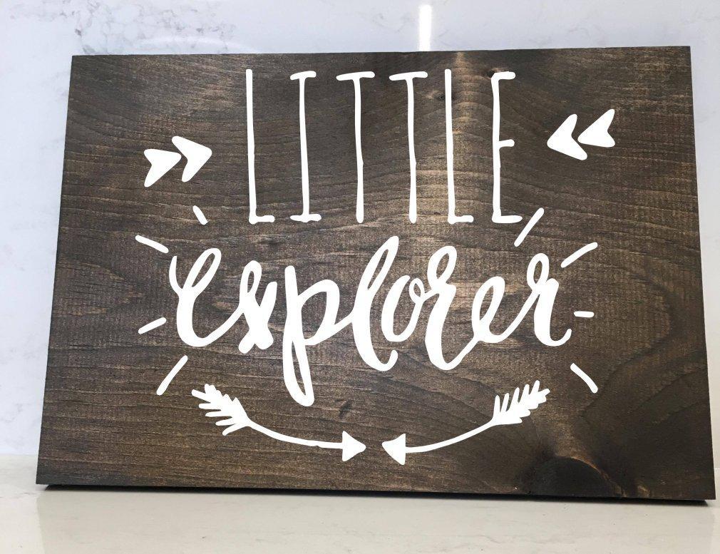 Little Explorer - 12x16 Wood Sign 00165