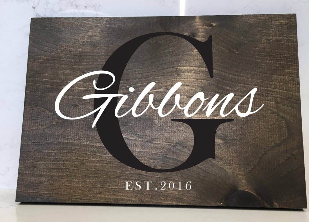 Family Name - 12x16 Wood Sign 00168