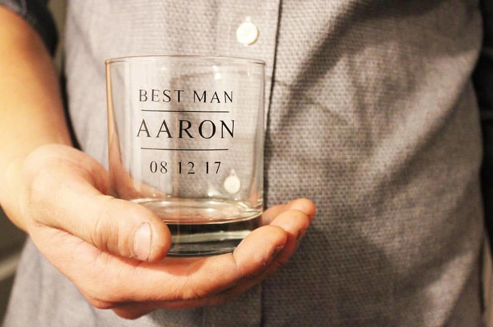 Groomsmen Custom Whiskey Glasses 00203