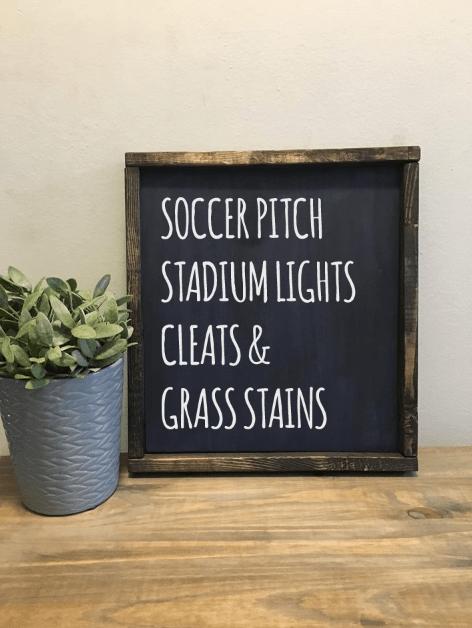 Soccer   Wood Sign 00214