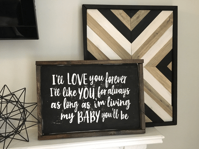 """My Baby You'll Be"" Block Letters 