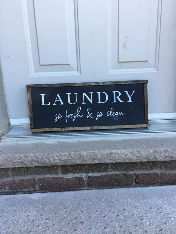 Laundry So Fresh & So Clean | Wood Signs 00282