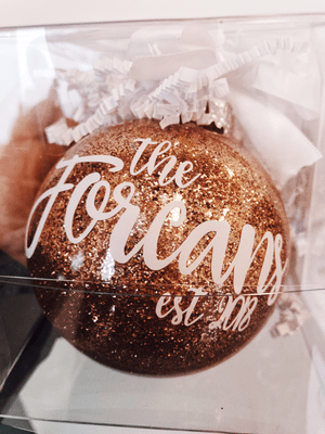 Rose Gold - Family Ornament