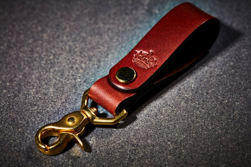 Imperial Crown Brown Leather Key Fob