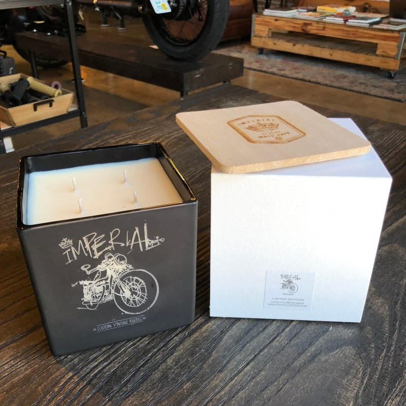 Jumbo Imperial Moto Candle - Cafe Racer 00013