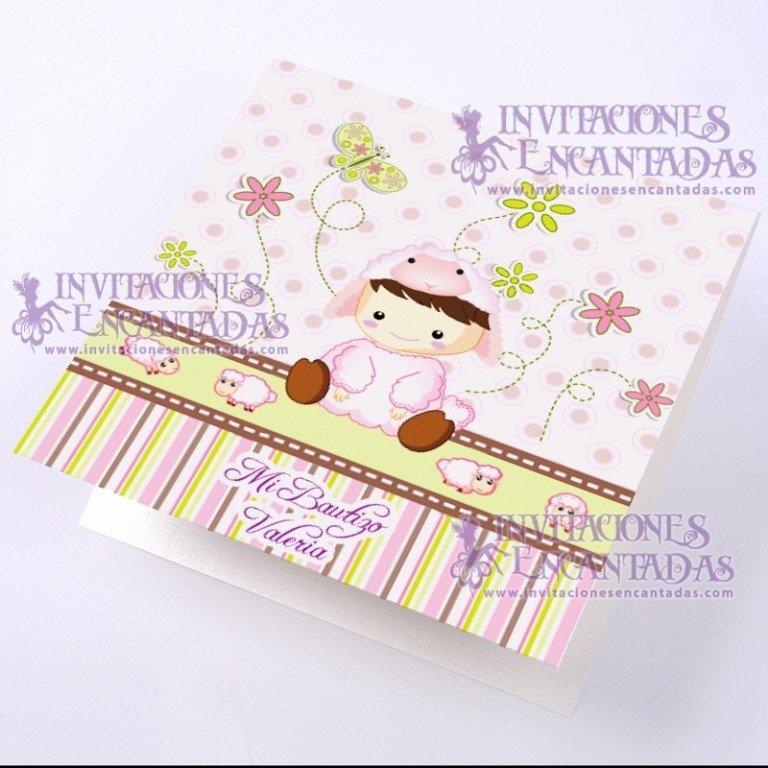 Invitación Bautizo BabySimple 04 InvBauSim04