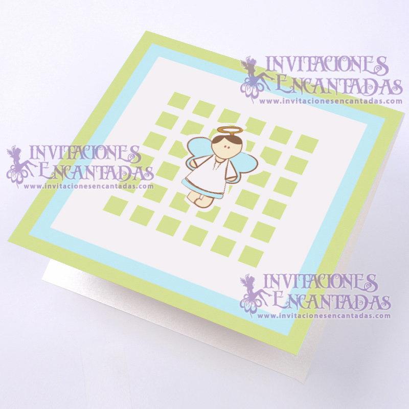 Invitación Bautizo BabySimple 08 InvBauSim08