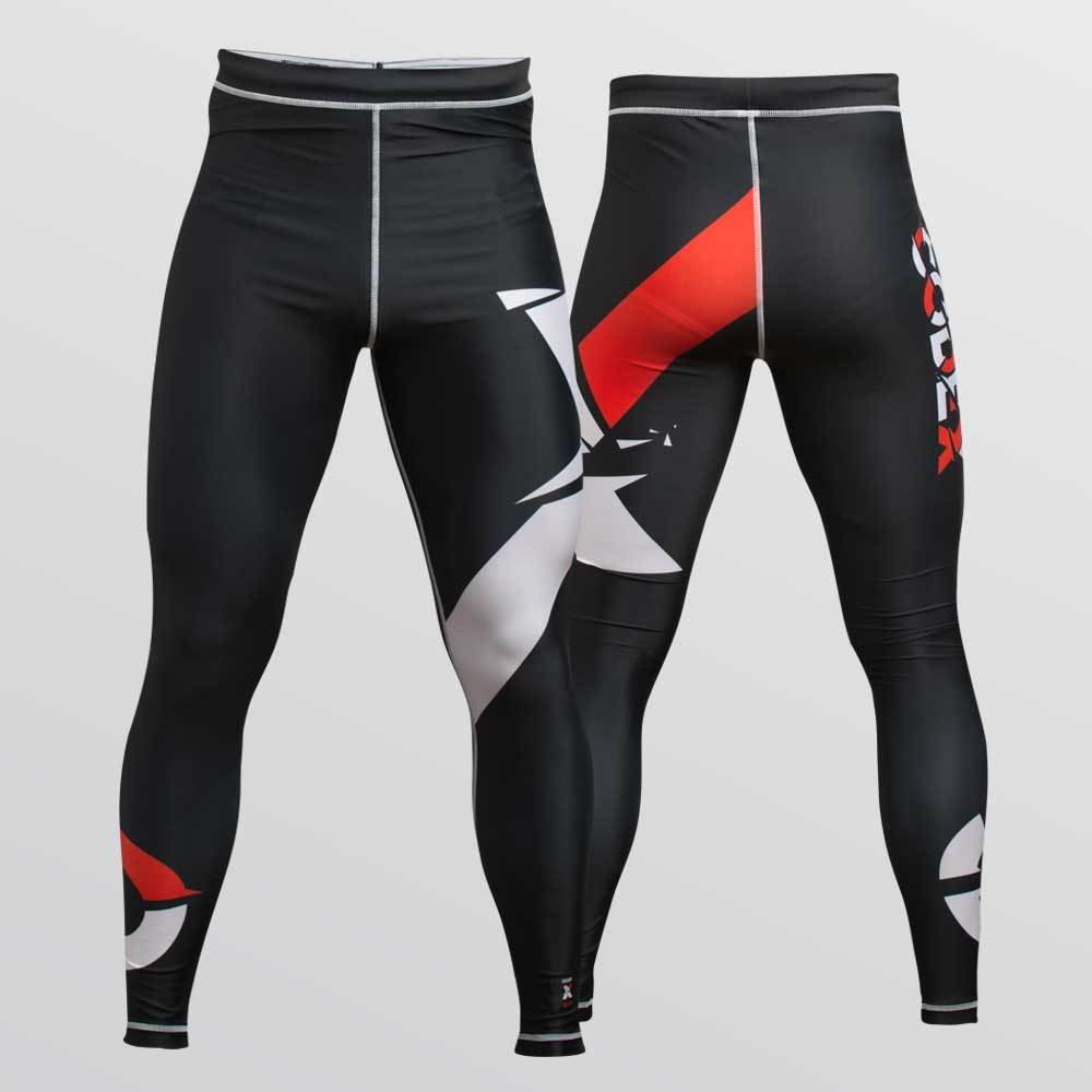 """Compression Pants """"X"""" Design For Grappling - Компрессионные леггинсы для грепплинга 92OTCD18BL020404"""