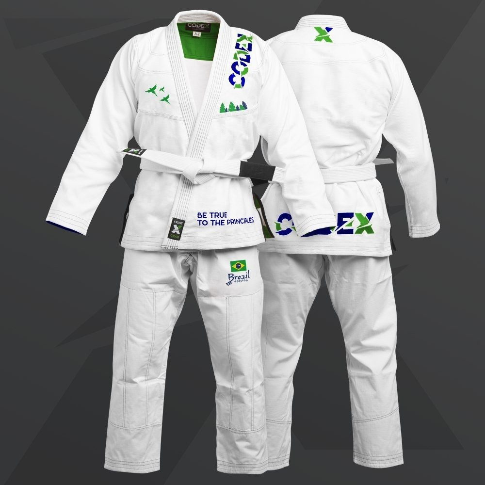 "Ultralight BJJ Gi Brazilian Edition - Кимоно для джиу джитсу ""Бразилия"" 92OTCD18010199"
