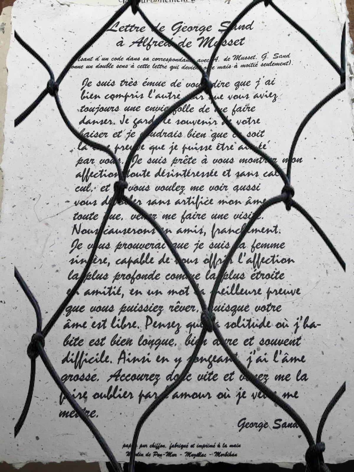 Lettre de Georges Sand