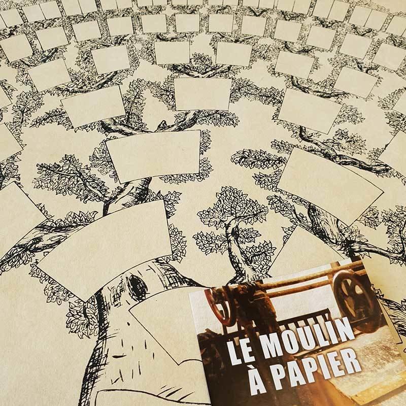 Arbre 7 générations | Papier Pur Chiffon | Sainte-Suzanne