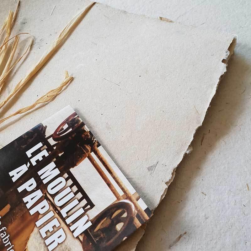 Lot de 5 feuilles | Papier Pur Chiffon | Moulin de Sainte-Suzanne