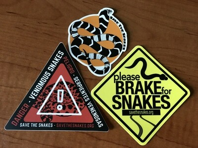 Save The Snakes Sticker Pack