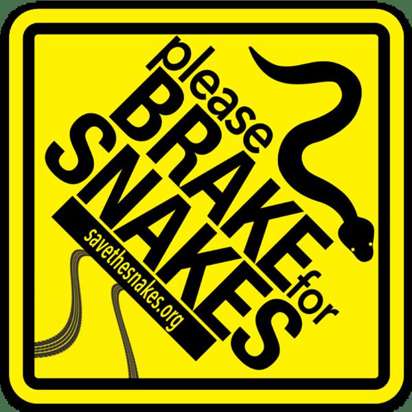 Brake For Snakes Sticker