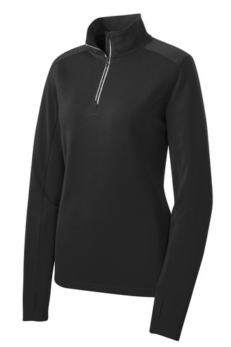 Ladies' Sport-Tek® Ladies Sport-Wick® Textured 1/4-Zip Pullover