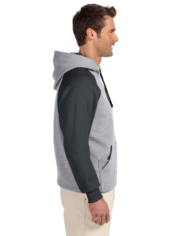 Jerzees NuBlend® Colorblock Raglan Pullover Hood