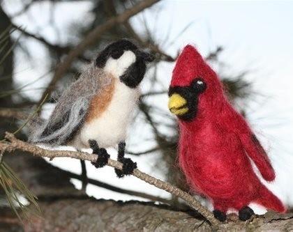 Needle Felt Winter Birds Kit