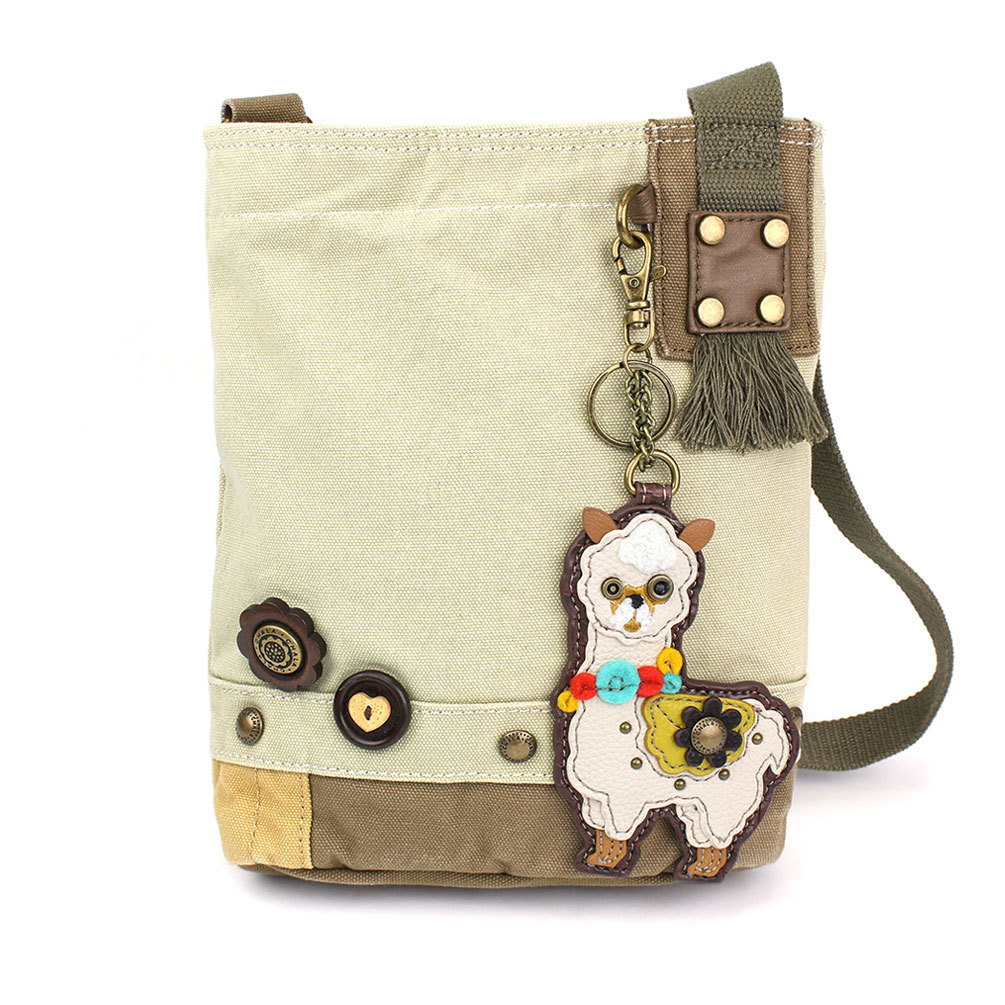 Patch Crossbody Bag with Llama Key Chain 18340
