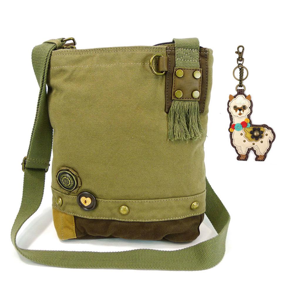 Patch Crossbody Bag with Llama Key Chain