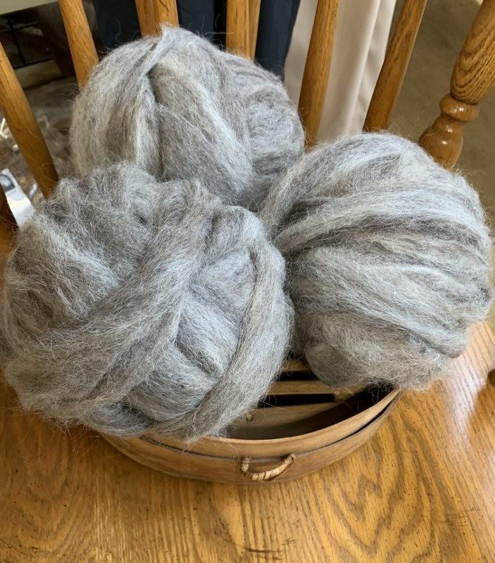 Alpaca Blend Roving - Gray