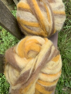 Alpaca Wool Roving - Butterscotch