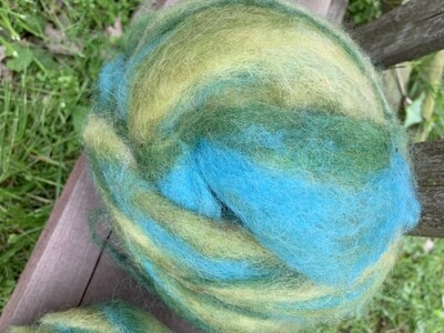 Alpaca Wool Roving - Mermaid