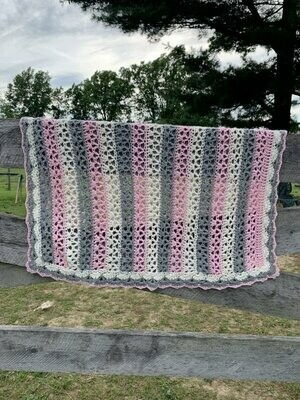 Sweet Alpaca Stripes Baby Blanket
