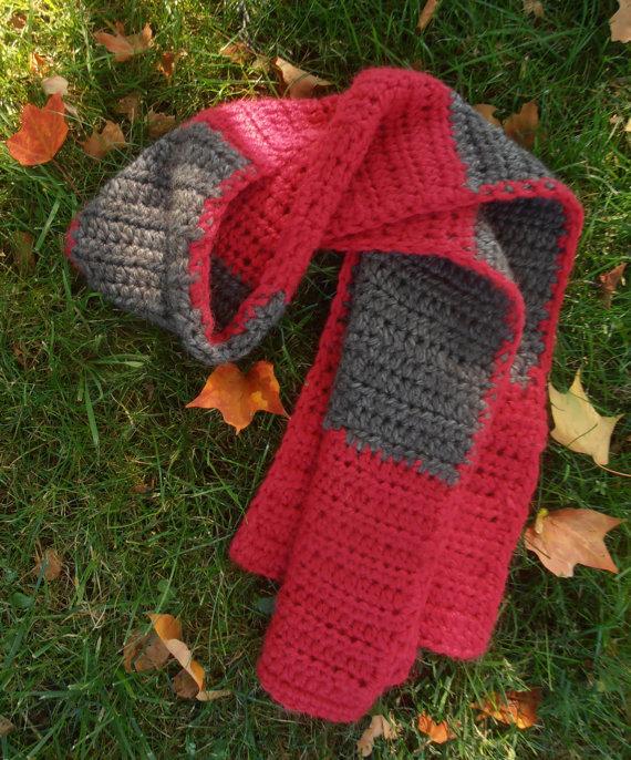 Color Block Scarf Crochet Class 00183