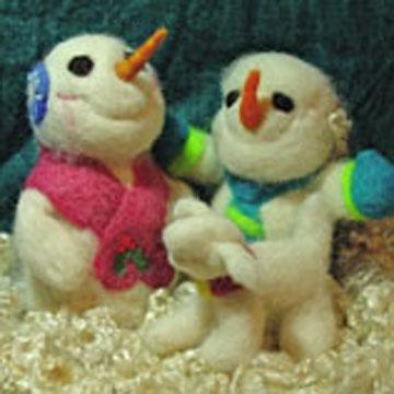 Snowman Felting Kit