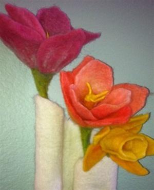 Needlefelt Spring Flowers Kit 17680