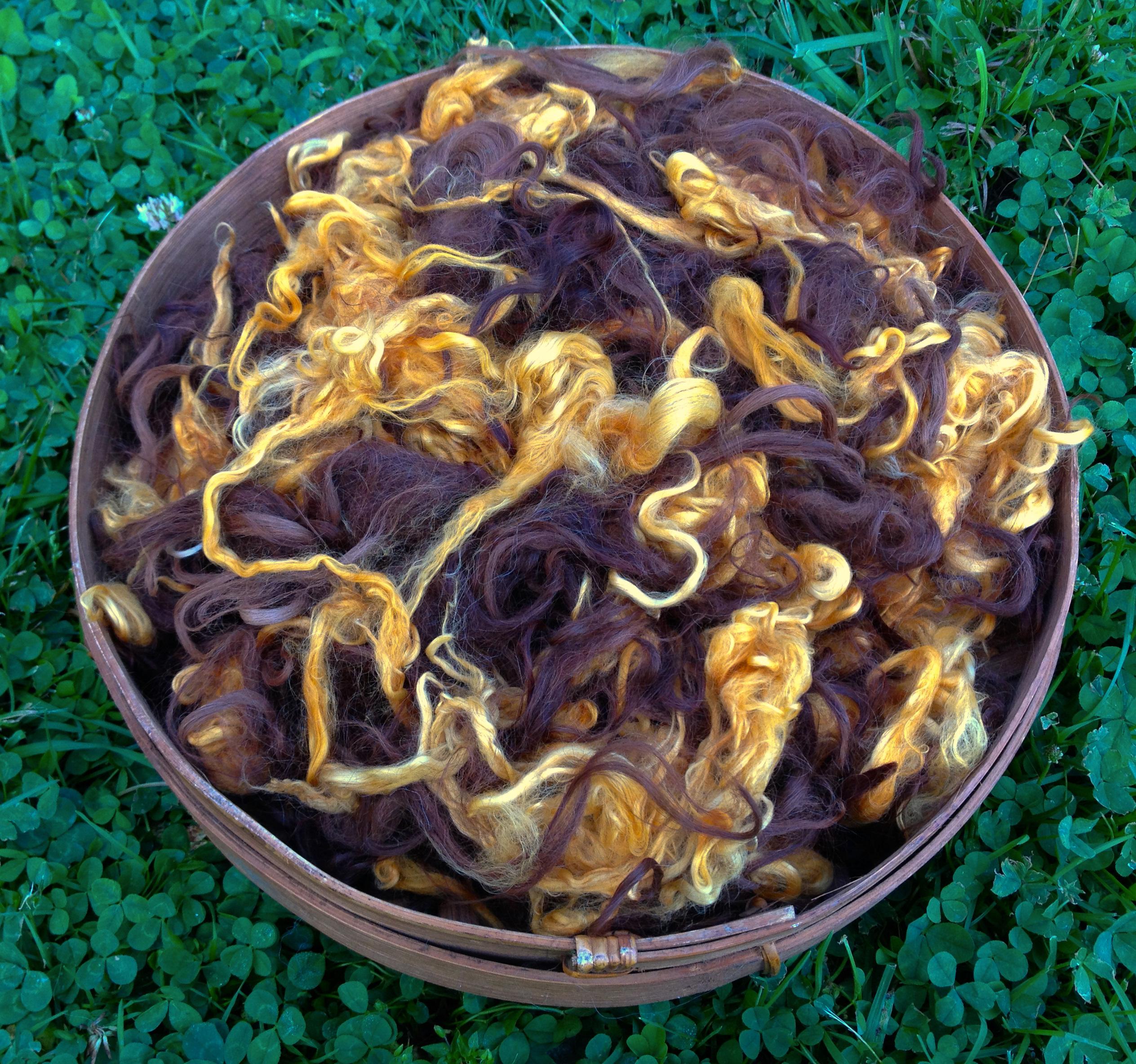 Suri Alpaca Fiber - Citrus, Medium Brown 17698
