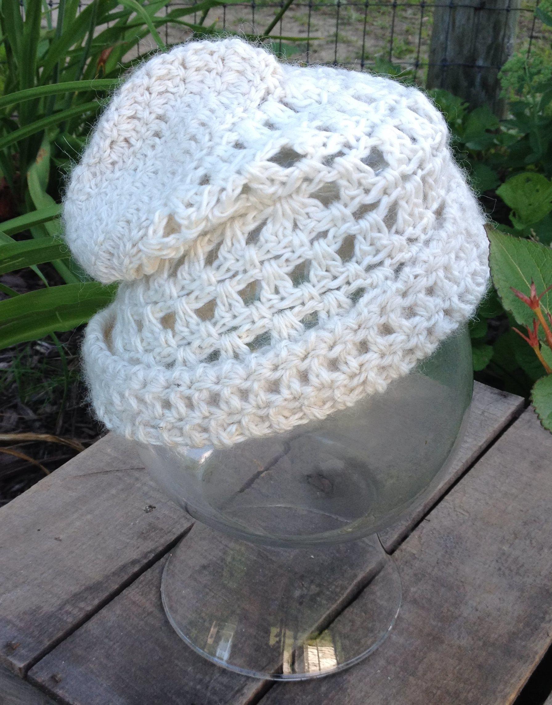White Alpaca Hat